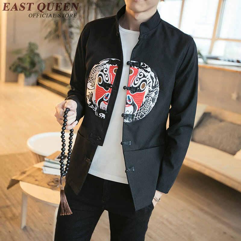 Dragão bombardeiro jaqueta masculina Tradicional chinesa vestuário do revestimento do revestimento para homens gola mandarim jaquetas orientais KK413