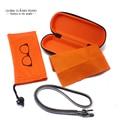 Óculos Caso Definido, inclui Caso De Óculos, Bolsa Com Cordão de óculos, cadeia e Pano de Limpeza CASE005/Bag002/Chain001