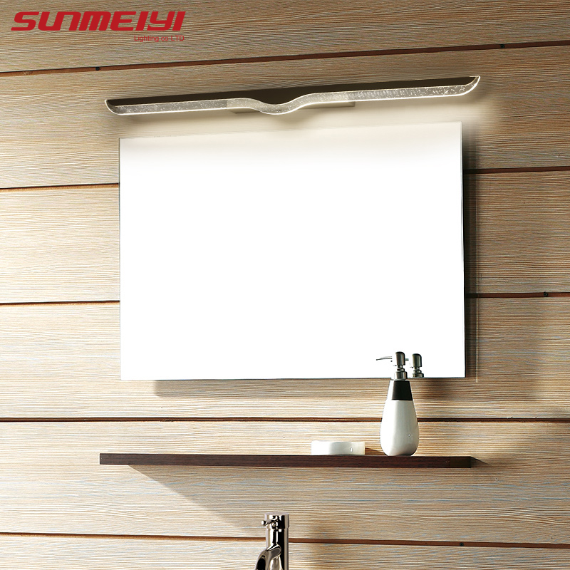 40CM 120CM Mirror light led bathroom wall lamp mirror glass waterproof anti fog brief modern stainless steel cabinet led light in LED Indoor Wall Lamps from Lights Lighting