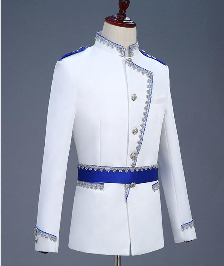 Costumes De Costume Vêtements Style Pour Européenne Star Pantalon Robe Ensemble Chanteur Formelle Hommes Danse Mens Marié Avec Royal Mariage Scène wXOg58x