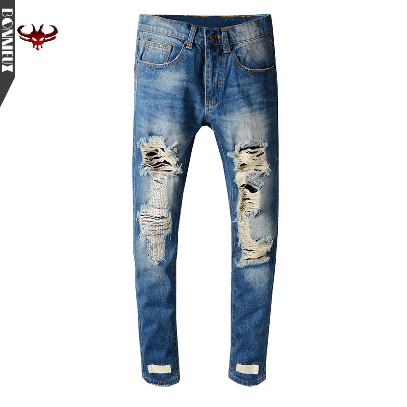 High Quality brand new men jeans straight fashion trousers cotton jeans men  good quality jeans casual pants high quality 2017 new brand men jeans painted print jeans fashion jeans men calca jeans dsq 100