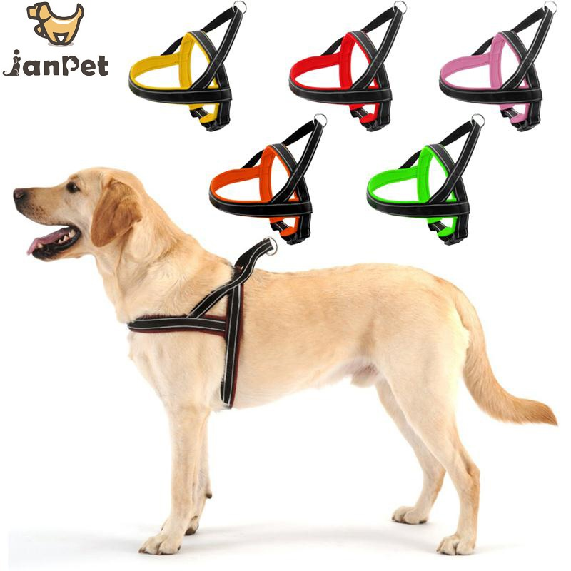 JANPET Reflective Padded Dog Harness With Quick Control Handle ...