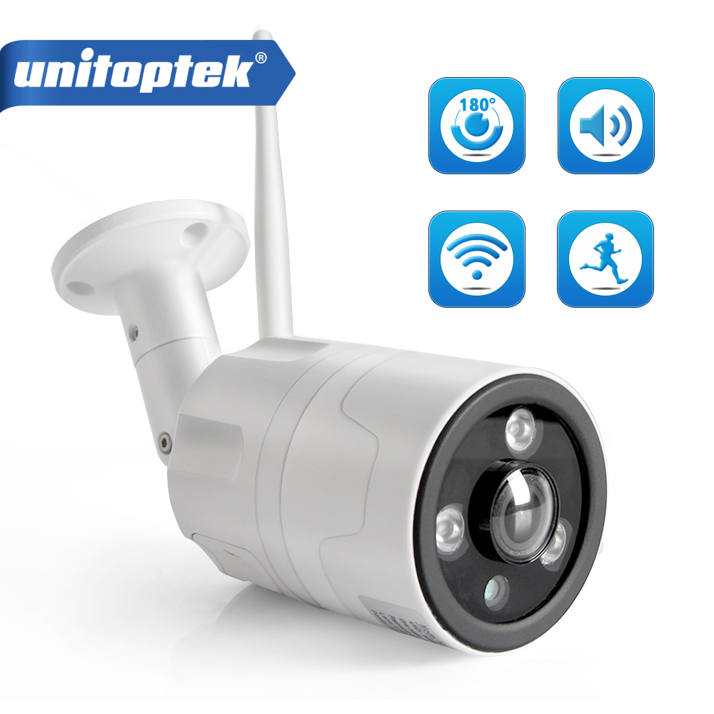 Outdoor WIFI IP Camera ONVIF 1080P Fisheye Lens 180 Degrees View Security Bullet Day/Night View Home CCTV Surveillance Cameras