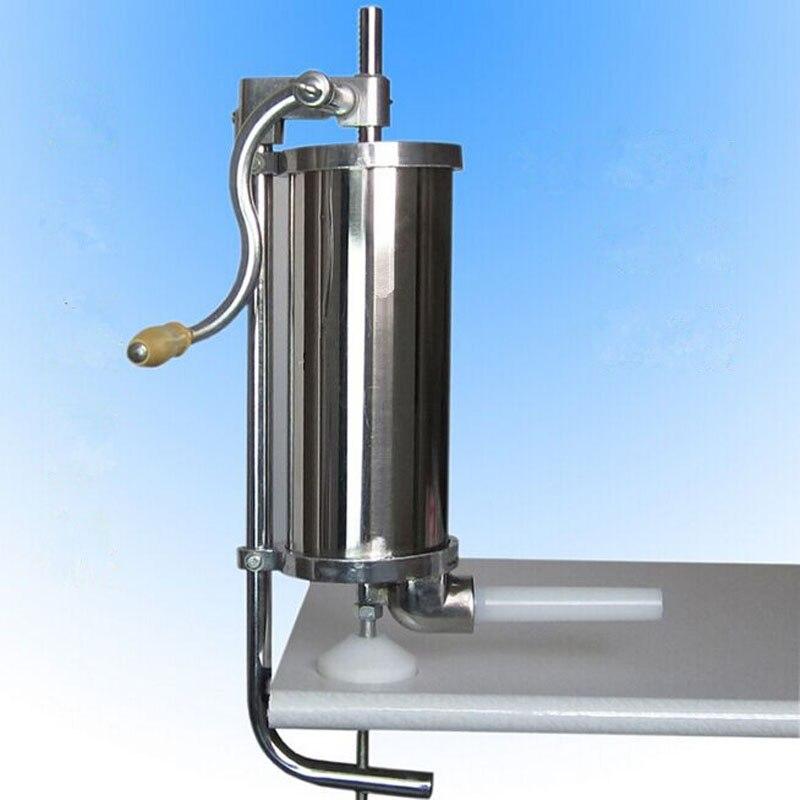 DHL New Design Better Quality 4L Manual Sausage Maker Vertical Sausage Filler Machine
