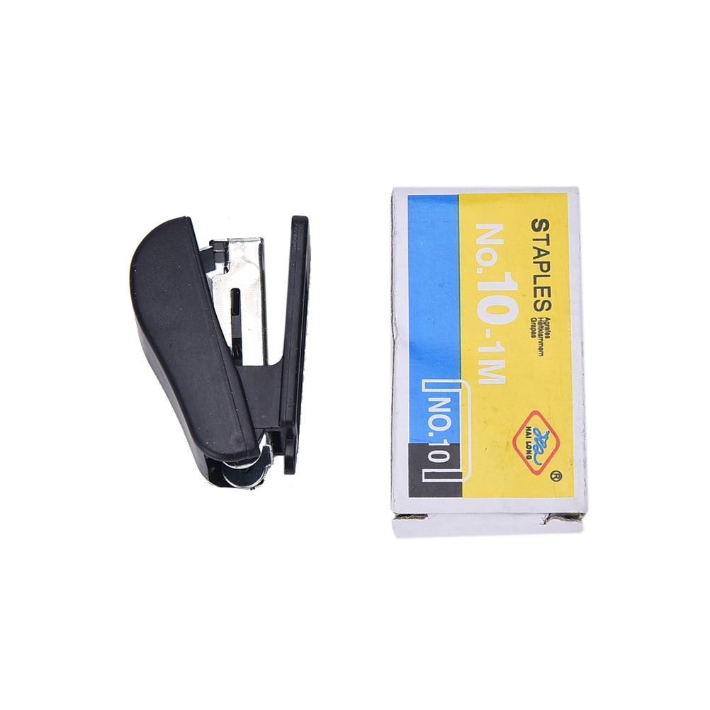 US $0 63 16% OFF Practical Geometric manual stapler Staples set Mini cute  grapadora papelaria Stationery Paper Binding Binder Book School Supply-in