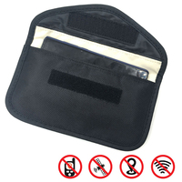 Bolsa de tarjeta de identificación, bloqueador RFID para teléfono móvil, bloqueo de señal FOB, bolsa protectora, billetera para tarjeta de llave de coche, 1 ud.