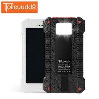 Tollcuudda ماء الشمسية شاحن البطارية الشمسية المزدوجة usb قوة البنك المحمولة شاحن خارجي ل iphone5 6 ثانية جميع الهواتف النقالة
