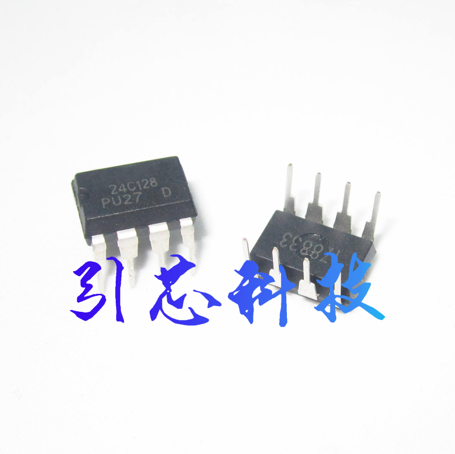 1pcs/lot AT24C128 <font><b>24C128</b></font> DIP-8 New memory chip image