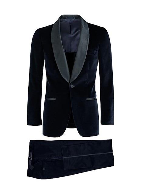 2018 elegante nueva moda novio desgaste de terciopelo negro Esmoquin boda  Trajes para hombres  3feb5fd7ef7