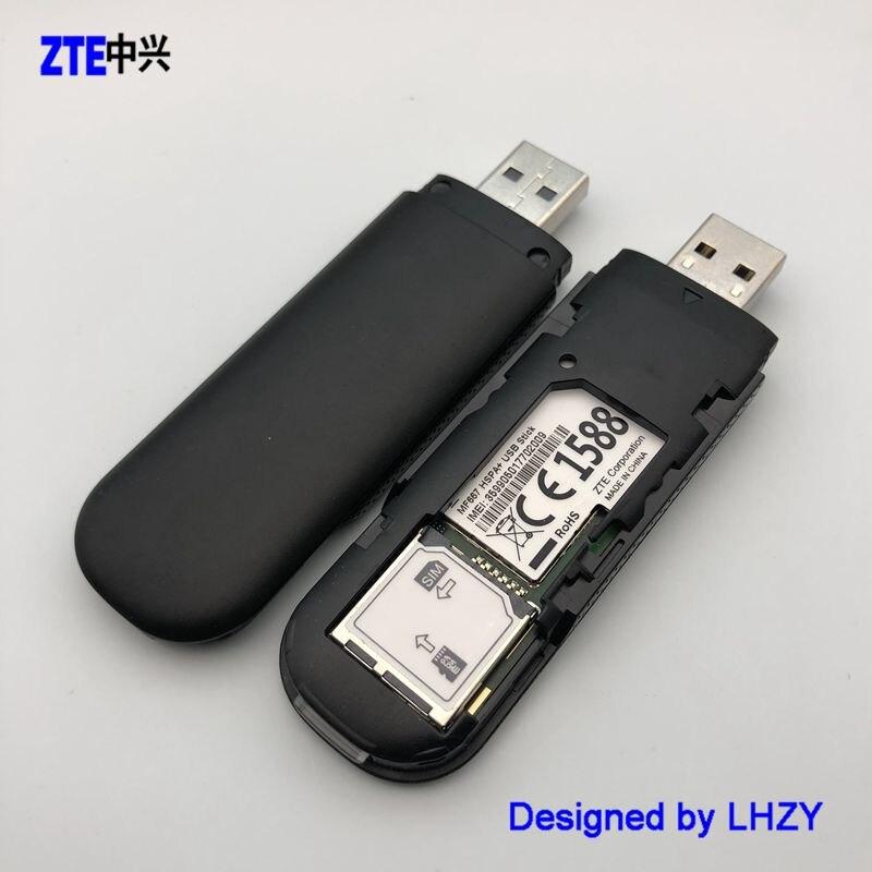 משמש ZTE MF667 21 Mbps אלחוטי מודם WCDMA 2100/850 mhz USB מודם PK Huawei E3131 E 369