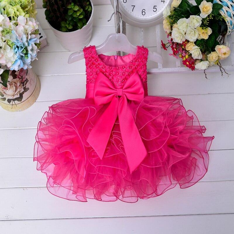 Yeni gəliş Baby Qızlar geyimləri yay qızı laylı paltar Bow - Uşaq geyimləri - Fotoqrafiya 4