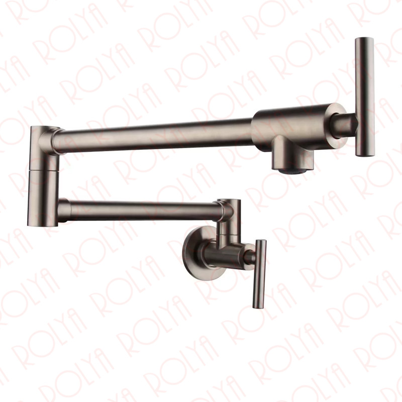 Single Cold Pot Filler Tap Wall Mounted Kitchen Faucet Chrome Nickel Brushed / Alba Black 2016 Wholesale New Arrival
