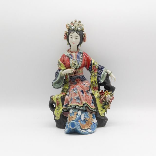 Buy chinese ceramic dolls fine art female statues antiques figurines angels - Angels figurines for sale ...