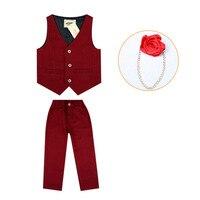 bbca1c55c Gentleman Vest Pants 2pcs Flower Boys Formal Suits Kids Weeding Birthday  Dress Children S Day Chorus. Pantalones Chaleco de caballero 2 piezas trajes  ...