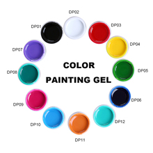 3D Nail Art  Gel Ink Drawn Painting Color Vernis a Ongle Semi Permanent Glaze UV Polish China supplier