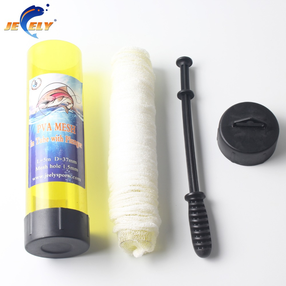 Jeely Slow Solution 15MM/18MM/25MM/37MM/44MMX 5M Carp Fishing PVA Mesh In Tube With Plunger Refill Bar