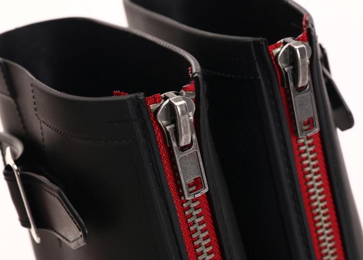 Punk Fashon Rain Boots Women Outdoor Rubber Ladies Water Shoes 2018 Back Zip Pvc High Boots Womens Shoes Plus Size Botas Mujer