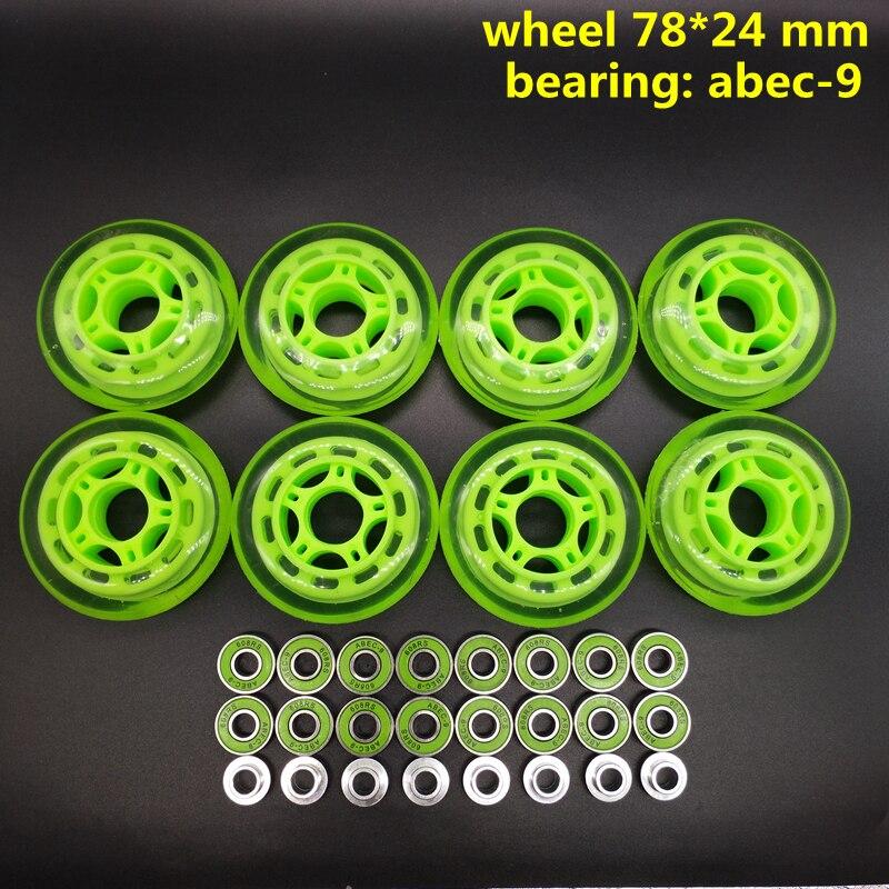 Free Shipping Skate Wheel Roller Wheel 78*24 MM  Mm Abec-9 78x24 Mm