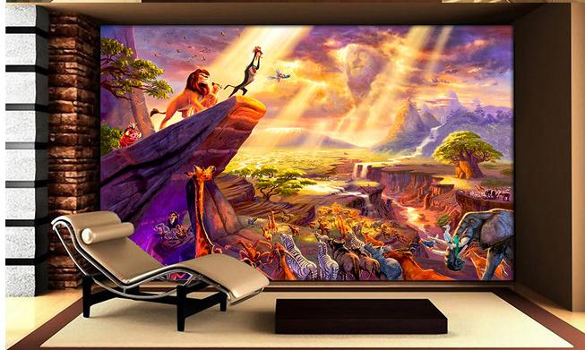 3D Wallpaper 2015 New Now Woven Hd Hand Drawn Park Fairy Tale Lion King  Painting TV Wall Wallpaper In Wallpapers From Home Improvement On  Aliexpress.com ...