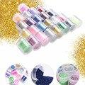 24 Botellas/set Gel ULTRAVIOLETA de Acrílico del Polvo del Brillo Del Clavo Del Diseño De Uñas 3D Tips Manicura de La Decoración Del Arte Del Clavo belleza Accesseries
