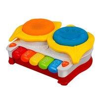 Caliente Del Bebé juguete de la Música del tambor pat light-up violín tambor de mano del bebé del órgano electrónico de SEPTIEMBRE 01