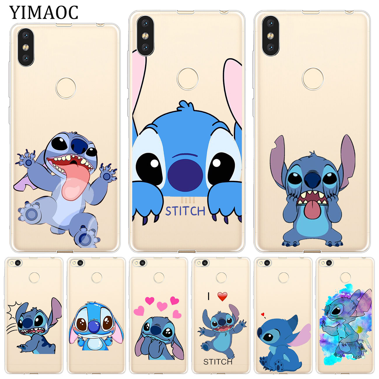 YIMAOC Lilo Stitch Pengiun Star Baby Soft Case for Xiaomi Redmi K20 Pro 7A 6A 4A 4X S2 GO Note 8 7 6 5 Plus 4 Cover