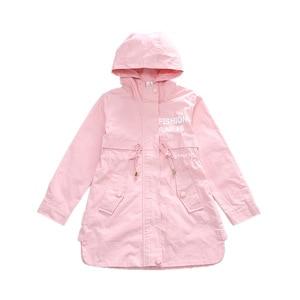 Image 5 - 子供服女の赤ちゃん服 2018 春と秋の新レジャー女の子コート手紙運動、フード付きウインドブレーカー