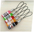 2016 Creative New Mini Red Wine Bottle Keyring Key Ring Keychain for mobile phone, Christmas Gift