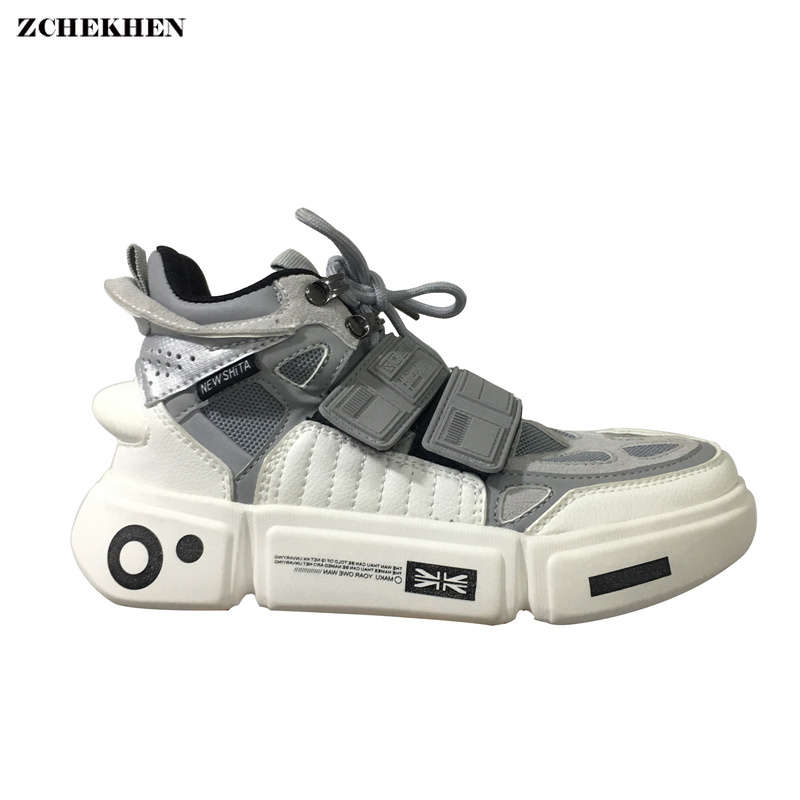Harajuku men casual white chunky sneakers hip hop Street shoes male autumn students walking zapatos de hombre tenis masculino sneakers