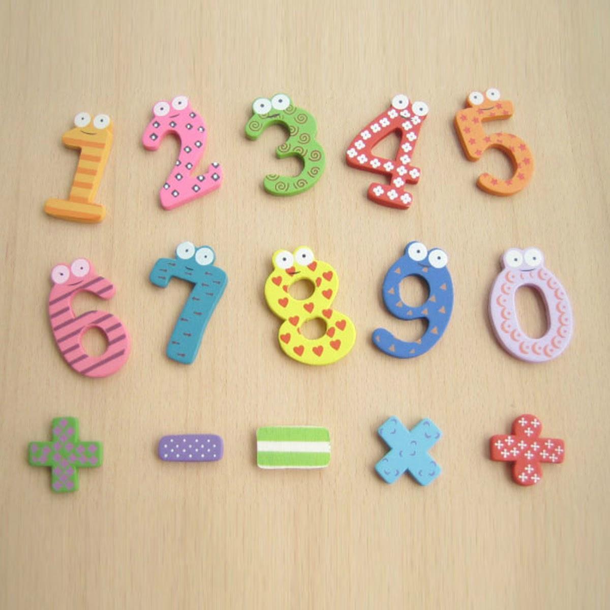 15pcs numbrid Cartoon haridus mänguasi puidust beebi lapse kingitus Uus