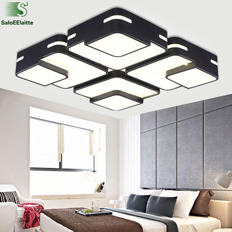 Nordic Square Metal Dimmable Led Ceiling Light Lustre Acrylic Living Room Led Ceiling Lamp Bedroom Led Ceiling Lighting Lights