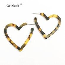 Женские маленькие серьги кольца gothletic 40 мм с черепаховым