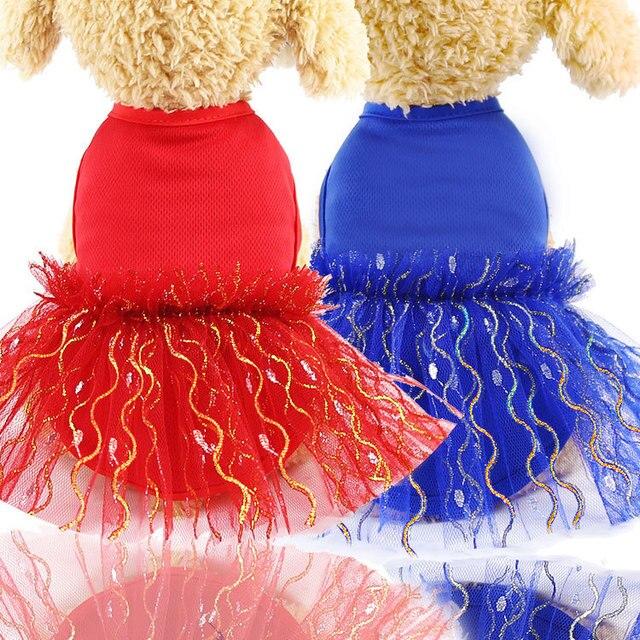 Vestidos de perro Chihuahua Bling tutú falda encaje princesa disfraz cachorro boda fiesta ropa pequeños perros medianos accesorios para mascotas