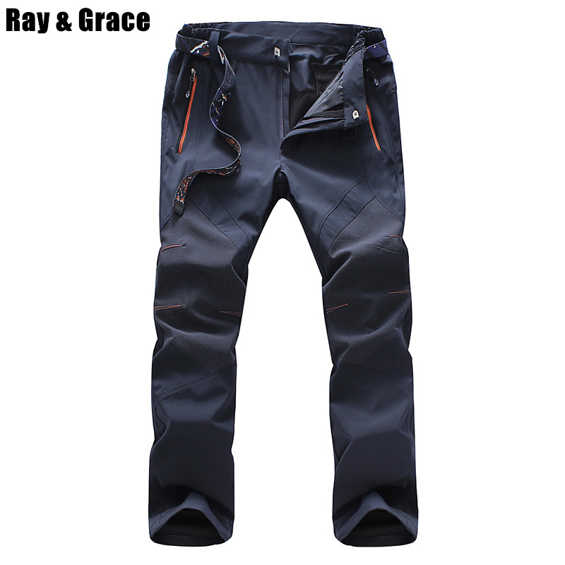 RAY GRACE Mens Ultralight Quick Dry Waterproof Breathable Hiking Camping Pants Summer Outdoor Sports Pants Fishing Trousers Men