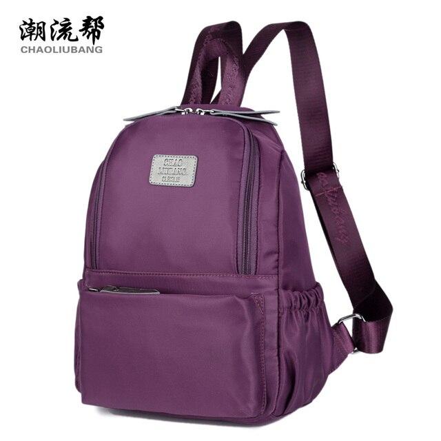 0d7f64c80 Estilo coreano mini mulheres bagpack mochila pequena escola saco senhoras saco  impermeável nylon mochila faculdade mochila