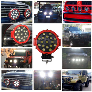 """Image 5 - OKEEN 7"""" off road led light bar 51W LED Work Lights Spot/Flood 2.2in thinkness good cooling surface for Offroad 4WD Tractor"""