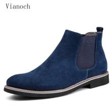Fashion New Shoes Men Slip On Ankle Boots Chelse Keep Warm Shoe Hightops Fur Winter Man men0027