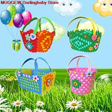Colorful EVA Handmade Basket Learning DIY Early Educational Handicrafts Craft Toys Funny Gadgets Interesting Toys For Children(China)