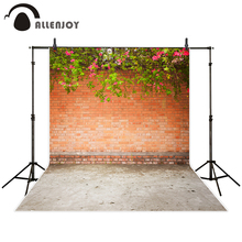 Фотография Allenjoy photography backdrop Vintage brick wall flowers plants background photo studio new design camera fotografica