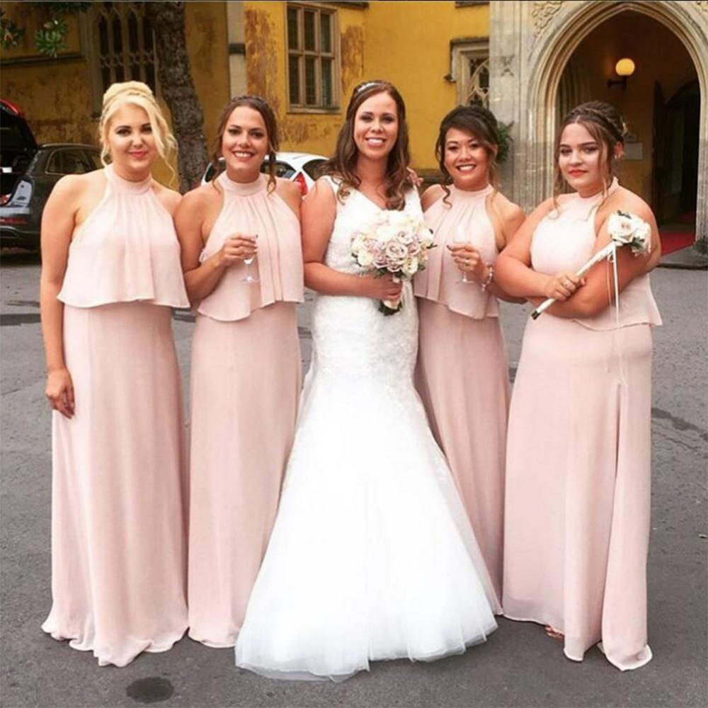 Increíble Damas De Honor Vestidos De Color Rosa Bebé Ilustración ...