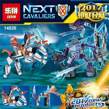 Lepin 14026 Nexus Knights Building Blocks set Lance vs. Lightening figures Kids gift bricks toys compatible with 70359