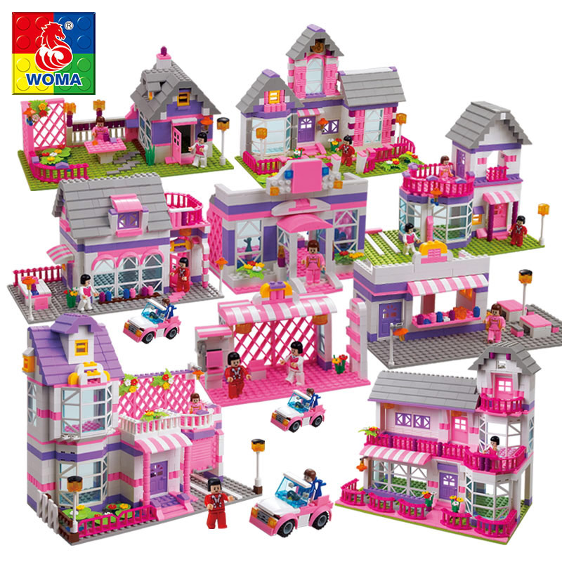цены friends series Building Blocks toys girls house villas castle car dolls compatible legoe
