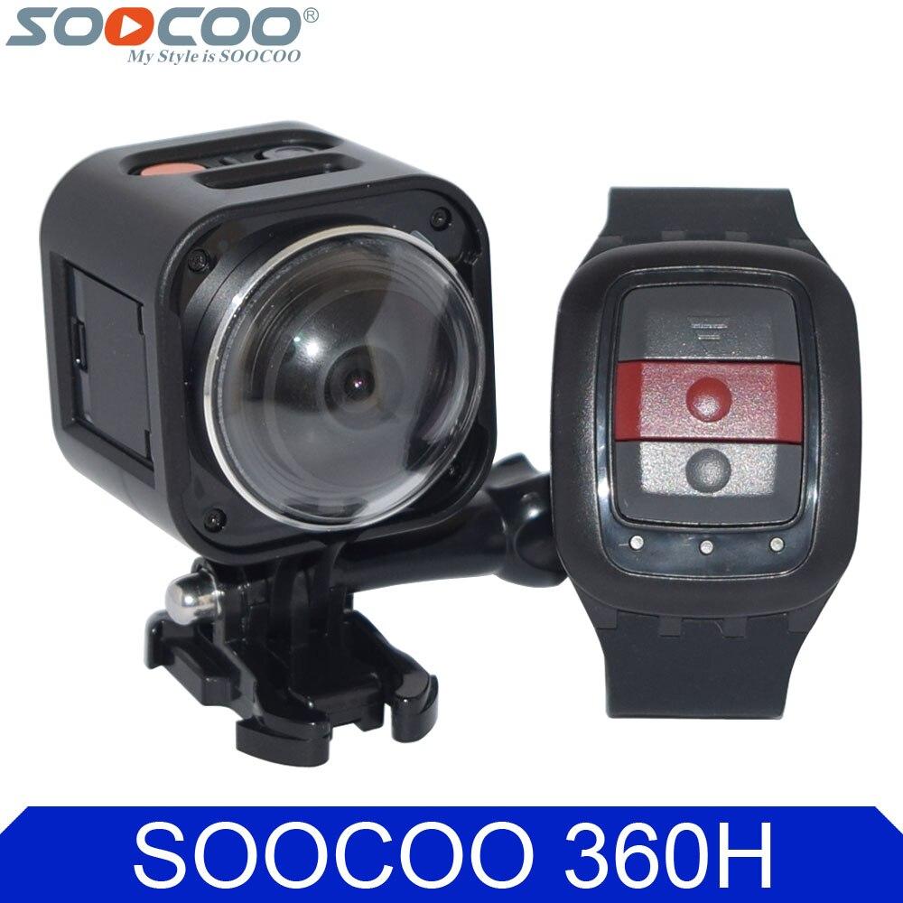SOOCOO Cube360H Wifi 360 Degree Panorama VR 4K Camera 1080P 60fps Full HD LCD Screen Mini