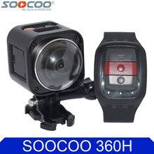Soocoo на Cube360H Wi-Fi 360 градусов Panorama VR 4 К Камера 1080 P 60fps Full HD ЖК-дисплей Экран Мини Спорт действий Камера + пульт дистанционного управления