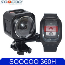 SOOCOO Cube360H Wifi 360 Degree Panorama VR 4K Camera 1080P 60fps Full HD LCD Screen Mini Sport Action Camera+Remote Controller