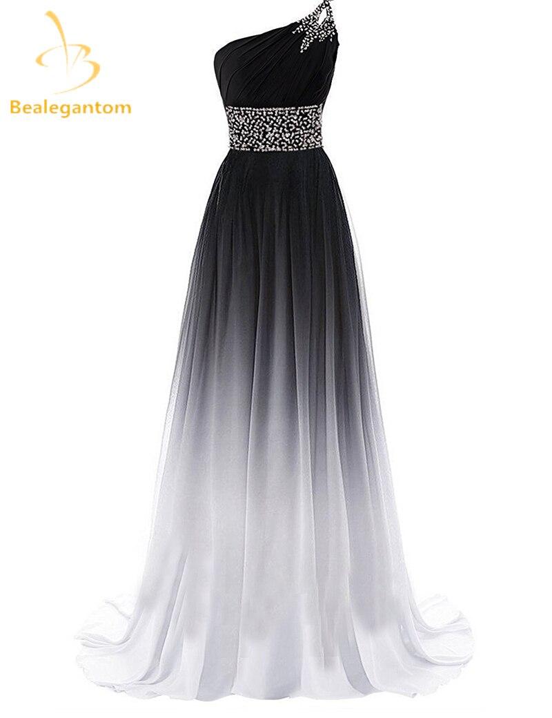 US $19.19 19% OFFBealegantom Neue Farbverlauf Abendkleider 19 Mit  Schulter Lace Up Formale Party Kleid Vestido Longo QA19evening  dressparty