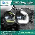 Super Branco LEVOU Luzes de Circulação Diurna Para Ford Ecosport Barra de Luz Drl Estacionamento Luzes de Nevoeiro Carro 12 V DC Cabeça lâmpada