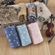 Модный детский шарф с звездным принтом, весенний хлопковый шейный платок для маленьких мальчиков и девочек, милая теплая шаль с пентаграммой и шарфы хиджабы