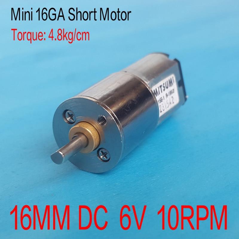16MM 3V 10RPM Torque Gear Box Motor New