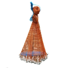 цены TOP!-Saltwater Fishing Cast Net For Bait Trap Fish Throw Net Size 5Ft Radius. 0.59Inch Mesh Freshwater Nets